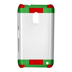 Fabric Christmas Red White Green Nokia Lumia 620 by Onesevenart