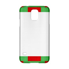 Fabric Christmas Red White Green Samsung Galaxy S5 Hardshell Case  by Onesevenart
