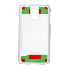 Fabric Christmas Red White Green Samsung Galaxy S5 Case (white) by Onesevenart