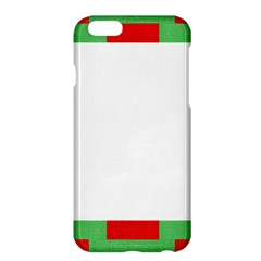 Fabric Christmas Red White Green Apple Iphone 6 Plus/6s Plus Hardshell Case by Onesevenart