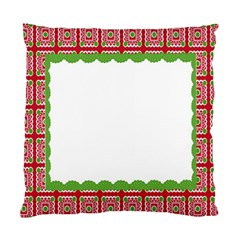 Frame Pattern Christmas Frame Standard Cushion Case (one Side) by Onesevenart