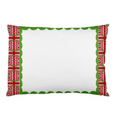 Frame Pattern Christmas Frame Pillow Case (two Sides) by Onesevenart