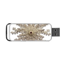 Gold Golden Gems Gemstones Ruby Portable Usb Flash (one Side) by Onesevenart