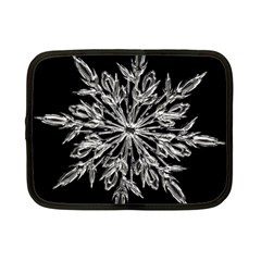 Ice Crystal Ice Form Frost Fabric Netbook Case (small)  by Onesevenart