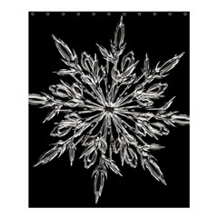 Ice Crystal Ice Form Frost Fabric Shower Curtain 60  X 72  (medium)  by Onesevenart