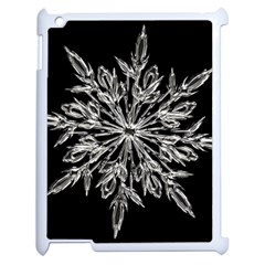 Ice Crystal Ice Form Frost Fabric Apple Ipad 2 Case (white) by Onesevenart