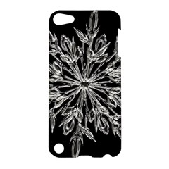 Ice Crystal Ice Form Frost Fabric Apple Ipod Touch 5 Hardshell Case by Onesevenart