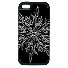 Ice Crystal Ice Form Frost Fabric Apple Iphone 5 Hardshell Case (pc+silicone) by Onesevenart