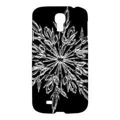 Ice Crystal Ice Form Frost Fabric Samsung Galaxy S4 I9500/i9505 Hardshell Case by Onesevenart