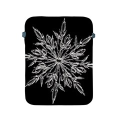 Ice Crystal Ice Form Frost Fabric Apple Ipad 2/3/4 Protective Soft Cases by Onesevenart