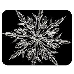 Ice Crystal Ice Form Frost Fabric Double Sided Flano Blanket (medium)  by Onesevenart