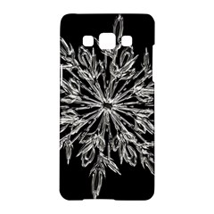 Ice Crystal Ice Form Frost Fabric Samsung Galaxy A5 Hardshell Case  by Onesevenart