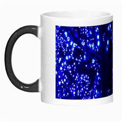 Lights Blue Tree Night Glow Morph Mugs by Onesevenart
