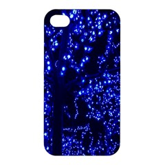Lights Blue Tree Night Glow Apple Iphone 4/4s Hardshell Case by Onesevenart