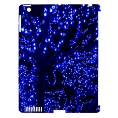 Lights Blue Tree Night Glow Apple Ipad 3/4 Hardshell Case (compatible With Smart Cover) by Onesevenart