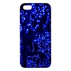 Lights Blue Tree Night Glow Iphone 5s/ Se Premium Hardshell Case by Onesevenart