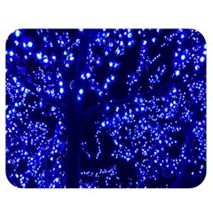 Lights Blue Tree Night Glow Double Sided Flano Blanket (medium)  by Onesevenart