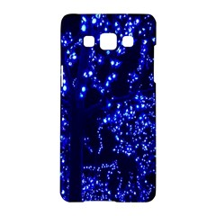 Lights Blue Tree Night Glow Samsung Galaxy A5 Hardshell Case  by Onesevenart