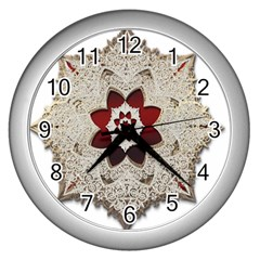 Jewelry Jewel Gems Gemstone Shine Wall Clocks (silver)  by Onesevenart