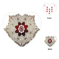 Jewelry Jewel Gems Gemstone Shine Playing Cards (heart)  by Onesevenart