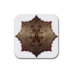 Jewelry Jewel Gem Gemstone Shine Rubber Square Coaster (4 Pack)  by Onesevenart