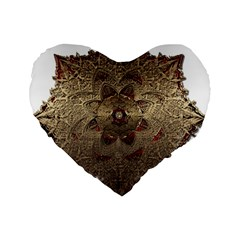 Jewelry Jewel Gem Gemstone Shine Standard 16  Premium Heart Shape Cushions by Onesevenart