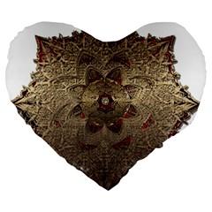 Jewelry Jewel Gem Gemstone Shine Large 19  Premium Heart Shape Cushions by Onesevenart