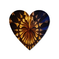 Light Star Lighting Lamp Heart Magnet by Onesevenart