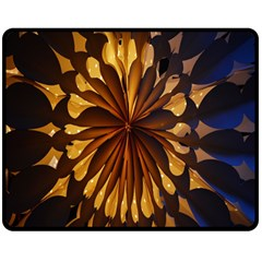 Light Star Lighting Lamp Double Sided Fleece Blanket (medium)  by Onesevenart