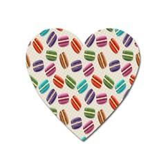 Macaron Macaroon Stylized Macaron Heart Magnet by Onesevenart