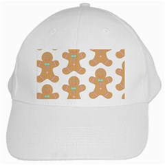 Pattern Christmas Biscuits Pastries White Cap by Onesevenart