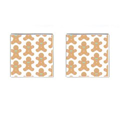 Pattern Christmas Biscuits Pastries Cufflinks (square) by Onesevenart