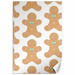 Pattern Christmas Biscuits Pastries Canvas 20  X 30   by Onesevenart