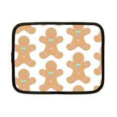Pattern Christmas Biscuits Pastries Netbook Case (small)  by Onesevenart