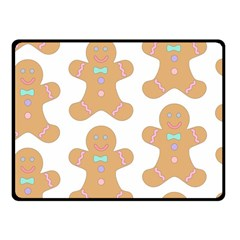 Pattern Christmas Biscuits Pastries Fleece Blanket (small) by Onesevenart