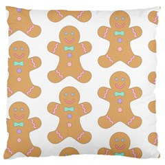 Pattern Christmas Biscuits Pastries Large Cushion Case (two Sides) by Onesevenart