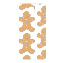 Pattern Christmas Biscuits Pastries Samsung Galaxy Note 3 N9005 Hardshell Back Case by Onesevenart