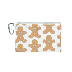 Pattern Christmas Biscuits Pastries Canvas Cosmetic Bag (s) by Onesevenart