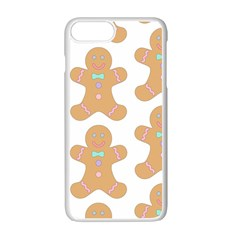 Pattern Christmas Biscuits Pastries Apple Iphone 7 Plus White Seamless Case by Onesevenart