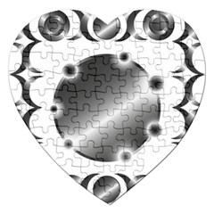 Metal Circle Background Ring Jigsaw Puzzle (heart) by Onesevenart