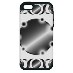Metal Circle Background Ring Apple Iphone 5 Hardshell Case (pc+silicone) by Onesevenart