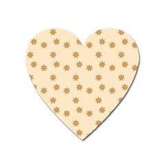 Pattern Gingerbread Star Heart Magnet by Onesevenart