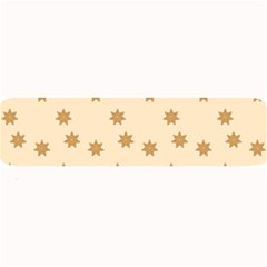 Pattern Gingerbread Star Large Bar Mats by Onesevenart