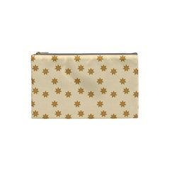 Pattern Gingerbread Star Cosmetic Bag (small)  by Onesevenart