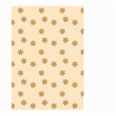 Pattern Gingerbread Star Small Garden Flag (two Sides) by Onesevenart