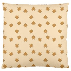Pattern Gingerbread Star Large Cushion Case (one Side) by Onesevenart