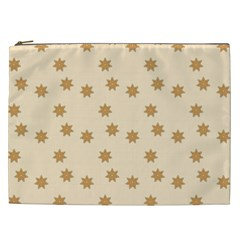 Pattern Gingerbread Star Cosmetic Bag (xxl)  by Onesevenart