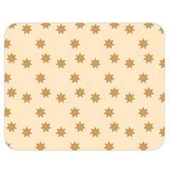 Pattern Gingerbread Star Double Sided Flano Blanket (medium)  by Onesevenart