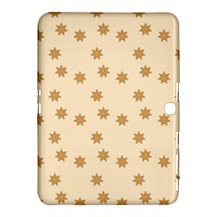 Pattern Gingerbread Star Samsung Galaxy Tab 4 (10 1 ) Hardshell Case  by Onesevenart