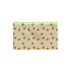 Pattern Gingerbread Star Cosmetic Bag (xs) by Onesevenart